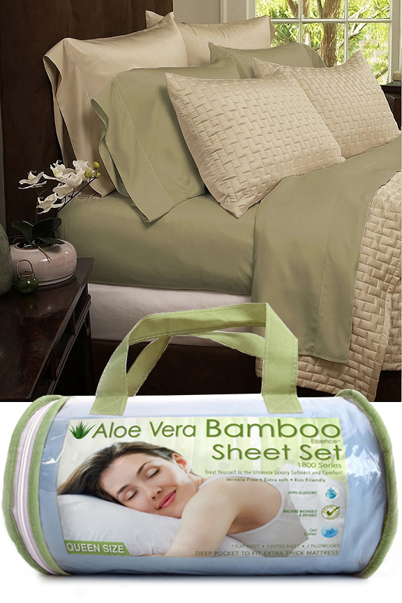 Bamboo Blend Bed Sheets 4 Piece Set