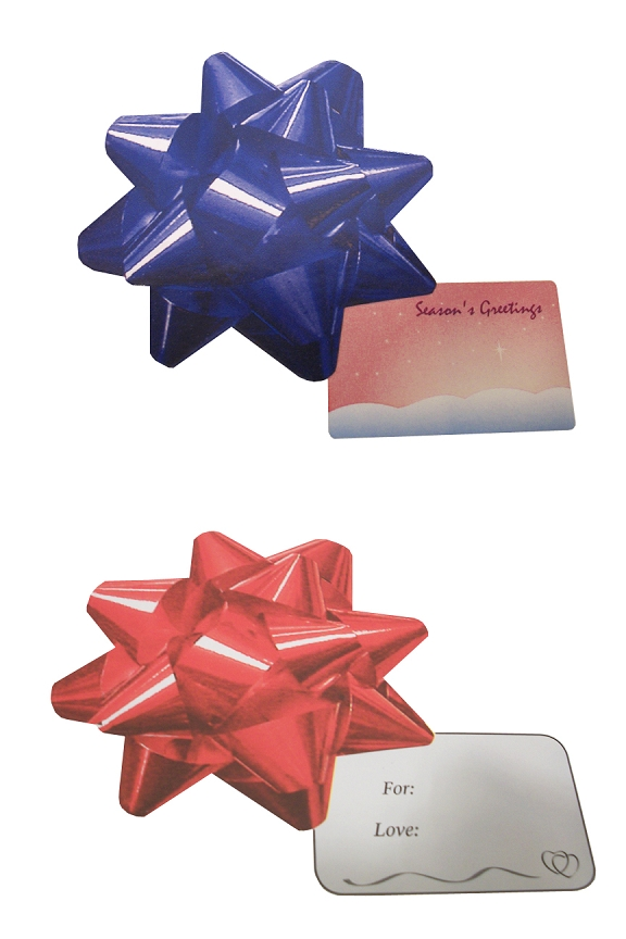Gift tag bow stickers 12 30 or 50 pack large bows look like the real thing and have gift tags attached negle Gallery