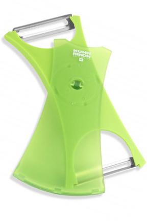 Kuhn Rikon Dual Peeler   Serrated And Straight Blades On One Tool.