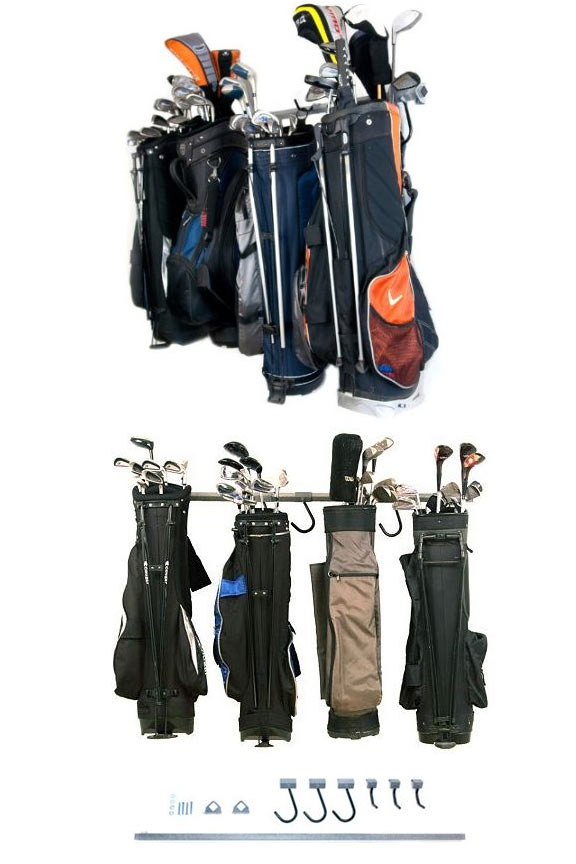 Large Golf Bag Storage Rack - 6 Bags or Carts on