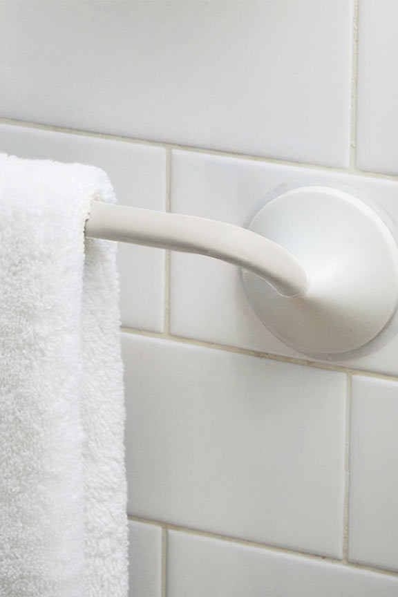 Griipa 18 Inch Friction Mount Towel Bar White