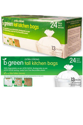 biodegradable tall kitchen garbage bags 13 gal - Tall Kitchen Trash Bags