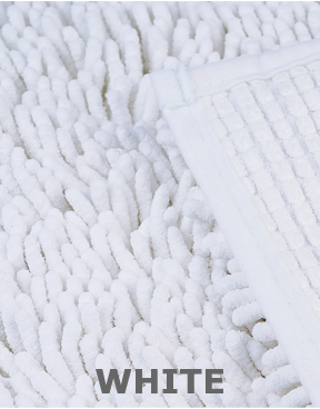 White Version Microfiber Chenille.