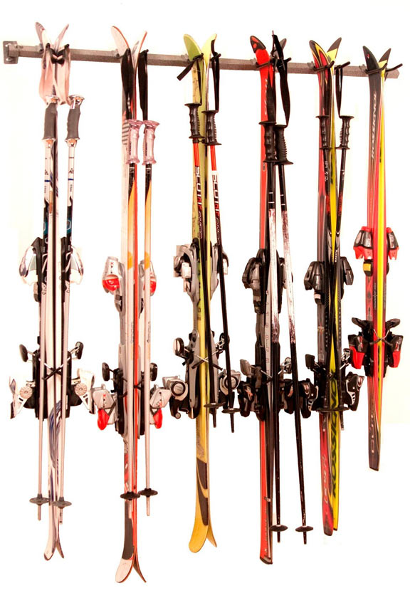 Winter Ski Storage Rack