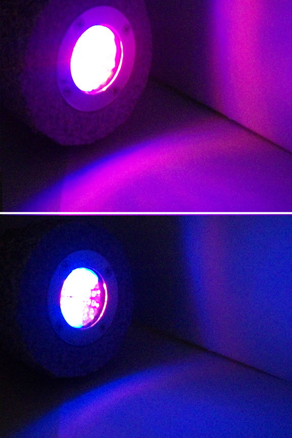 Real rock led landscape light bright led lights make the surrounding area glow with color aloadofball Images