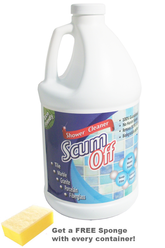 Oz Scum Off An All Natural Tub And Tile Cleaner - Bathroom floor tile cleaning products