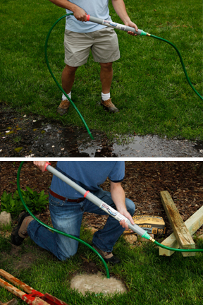Dry A Flooded Yard Or Remove Water From Post Hole