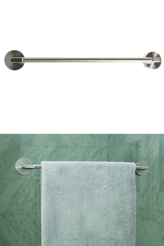 Stainless Steel Friction Mount Towel Bar Attach Almost Anywhere